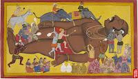 the size of kumbakarna, brother of ravana (Ramayana)