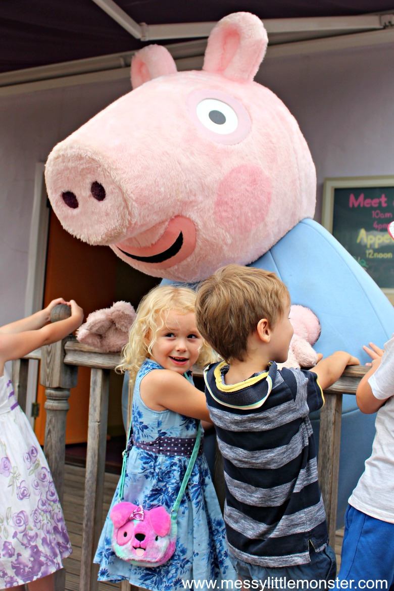 meeting characters at peppa pig world, paultons park