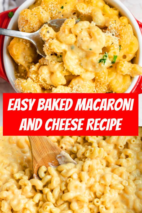 This classic Baked Macaroni and Cheese recipe is easy to make & topped with crispy panko breadcrumbs. It's a kid favorite but sophisticated enough for adults! #macandcheese #macaroni #cheese