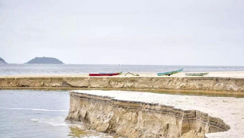 Fenômeno natural em praia de Guaratuba chama atenção de moradores