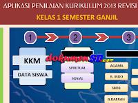 Aplikasi Raport Kurikulum 2013 Kelas 1 SD Revisi Terbaru