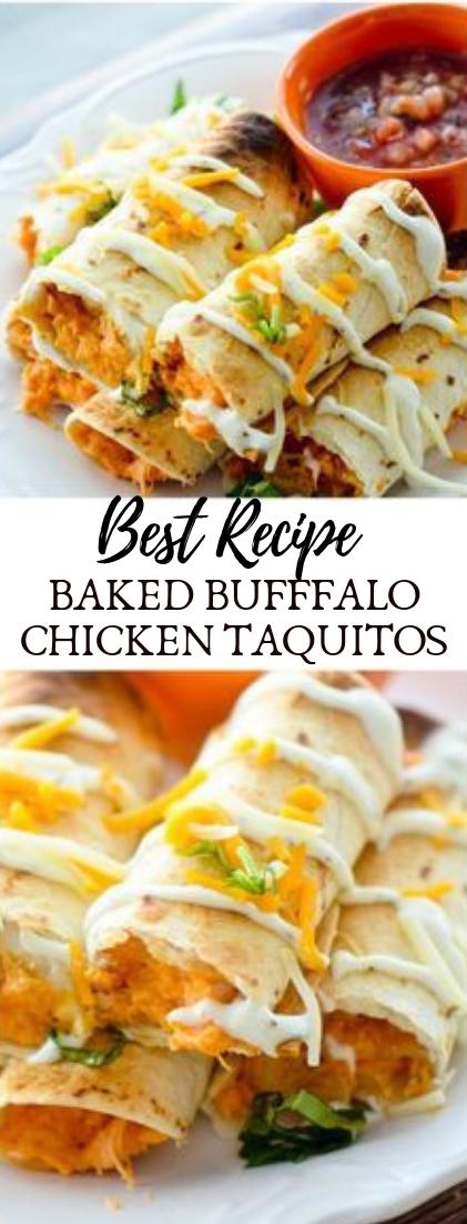 BAKED BUFFFALO CHICKEN TAQUITOS #dinnerrecipe #food