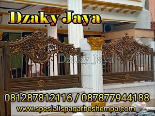 Foto pagar besi tempa di Kalimalang, Jakarta Timur