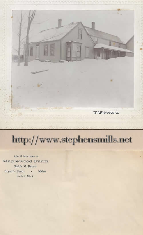 photo Captain Samuel Stephens Homestead where the Bacon  lived they called it Maplewood.