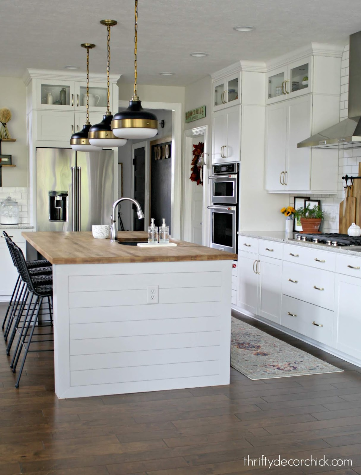 How to extend sides of kitchen island