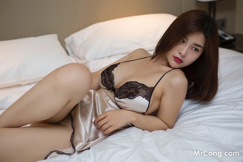 Image Yan-Pan-Pan-Part-5-MrCong.com-009 in post Ngắm người đẹp Yan Pan Pan (闫盼盼) khoe dáng sexy với váy ngủ (25 ảnh)