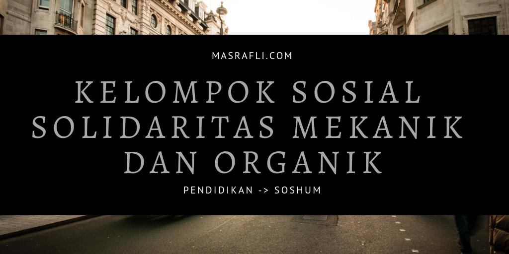 Solidaritas Mekanik dan Organik