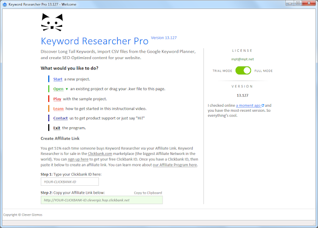 Screenshot Keyword Researcher Pro 13.127 Full Version