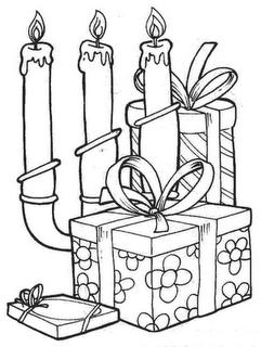 Regalos Y Velas De Navidad Para Colorear Dibujos Para Colorear
