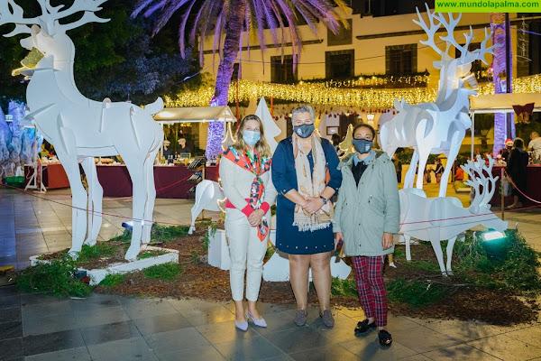 El Mercado  de Navidad de Los Llanos de Aridane invita a comprar en un entorno único