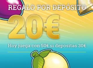 Todoslots 20 euros de regalo por depositar 9 enero 2021