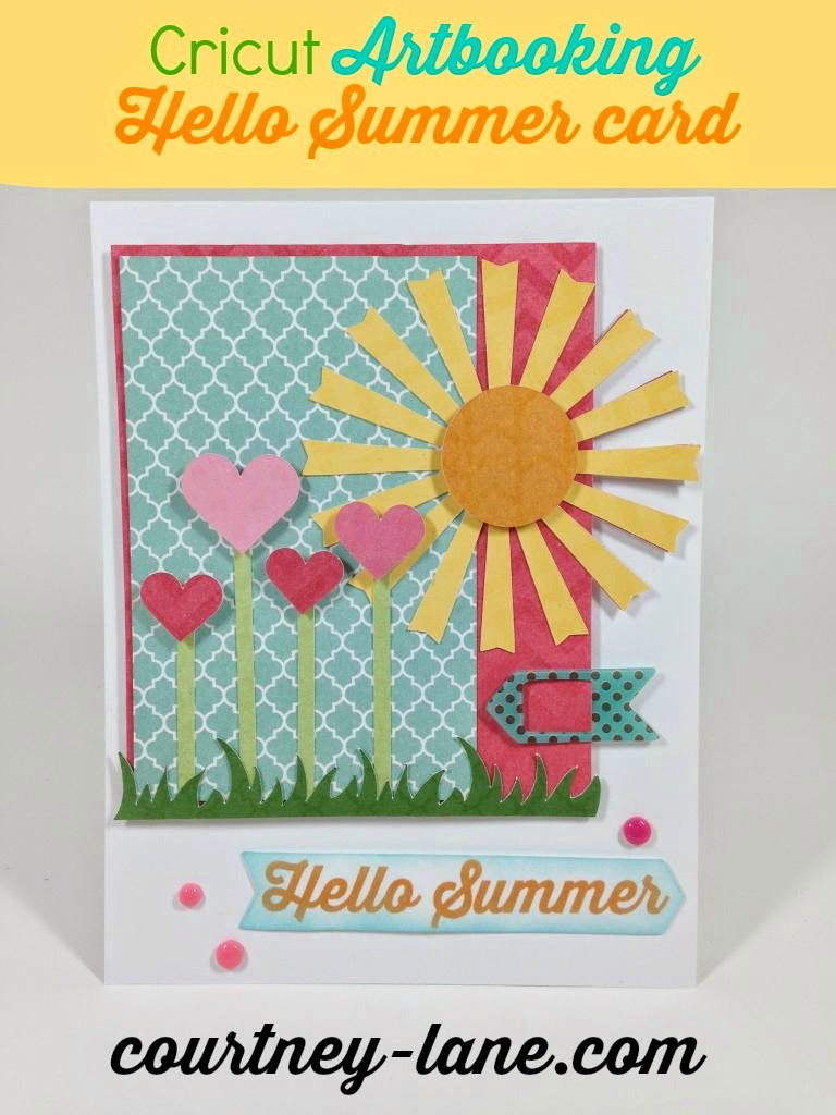 Cricut Artbooking Hello Summer Card