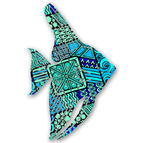 Steel Cerulean Tetra Fish 3D Wall Decor 1 of 2