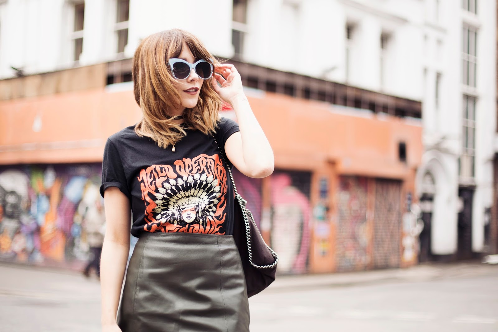 Megan Ellaby shows how to wear a band tee