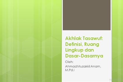 Definisi Akhlak Tasawuf