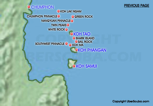 Koh Tao Island Thailand Dive Maps Traveling Across Asia