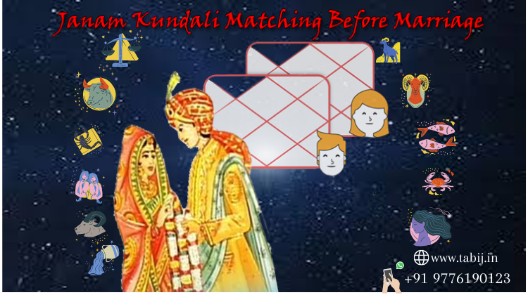 Why is an online Janam Kundali match needed for marriage?