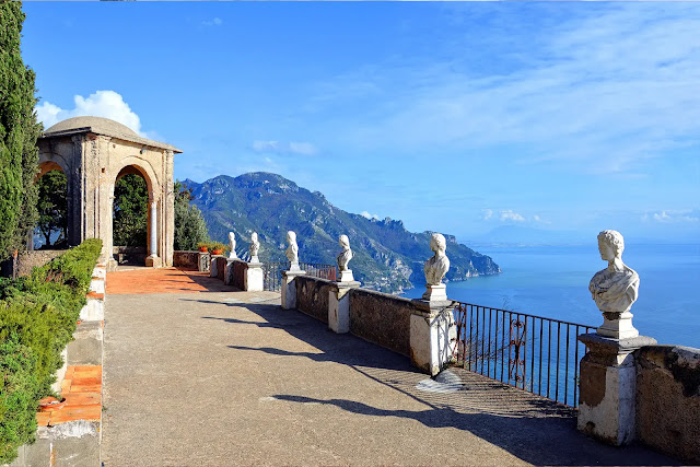 8- The city of Ravello, next to the Italian coast of Amalfi
