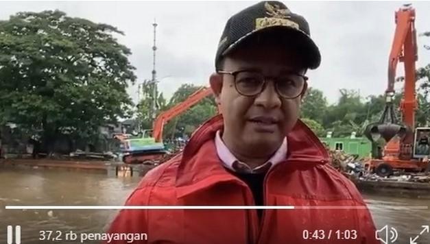 Anies soal Banjir Jakarta: Kami Tanggung Jawab, Tak Salahkan Siapa Pun