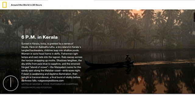 Kerala,India listed in Nat Geo's 'Around the World in 24 Hours'