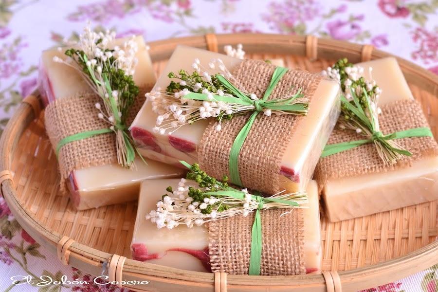 Detalles de boda jabones naturales rusticos florales
