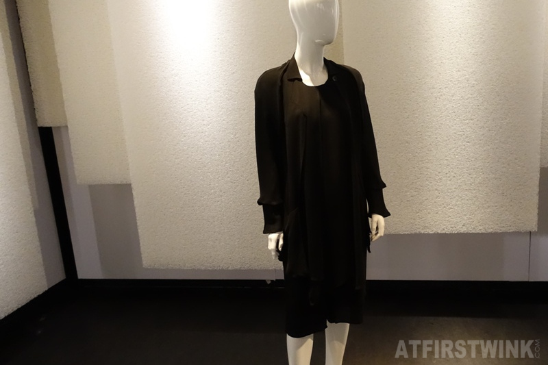 Museum Volkenkunde Leiden Netherlands Cool Japan exhibit  black ensemble Yohji Yamamoto (around 1990)