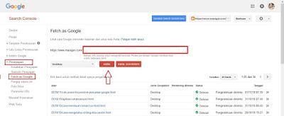 Cara Mensubmit Artikel ke Google Webmaster Tool