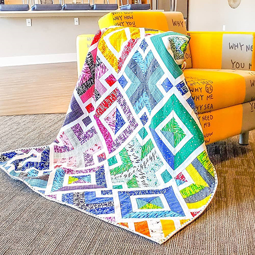 3D Dudes Quilt by Ashley Mueller, The Tutorial designed by Rob Appell of Man Sewing