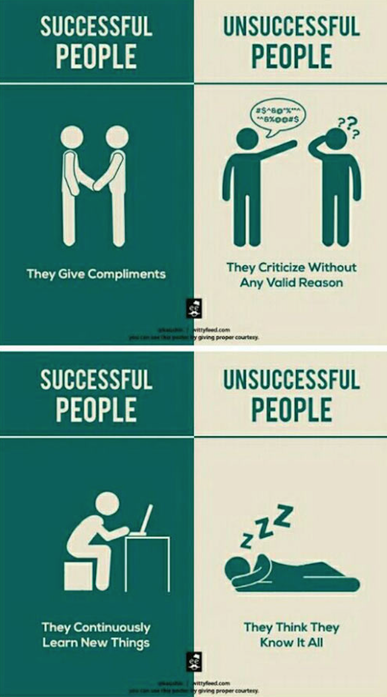 Chaos Unbridled: Successful People vs. Unsuccessful People