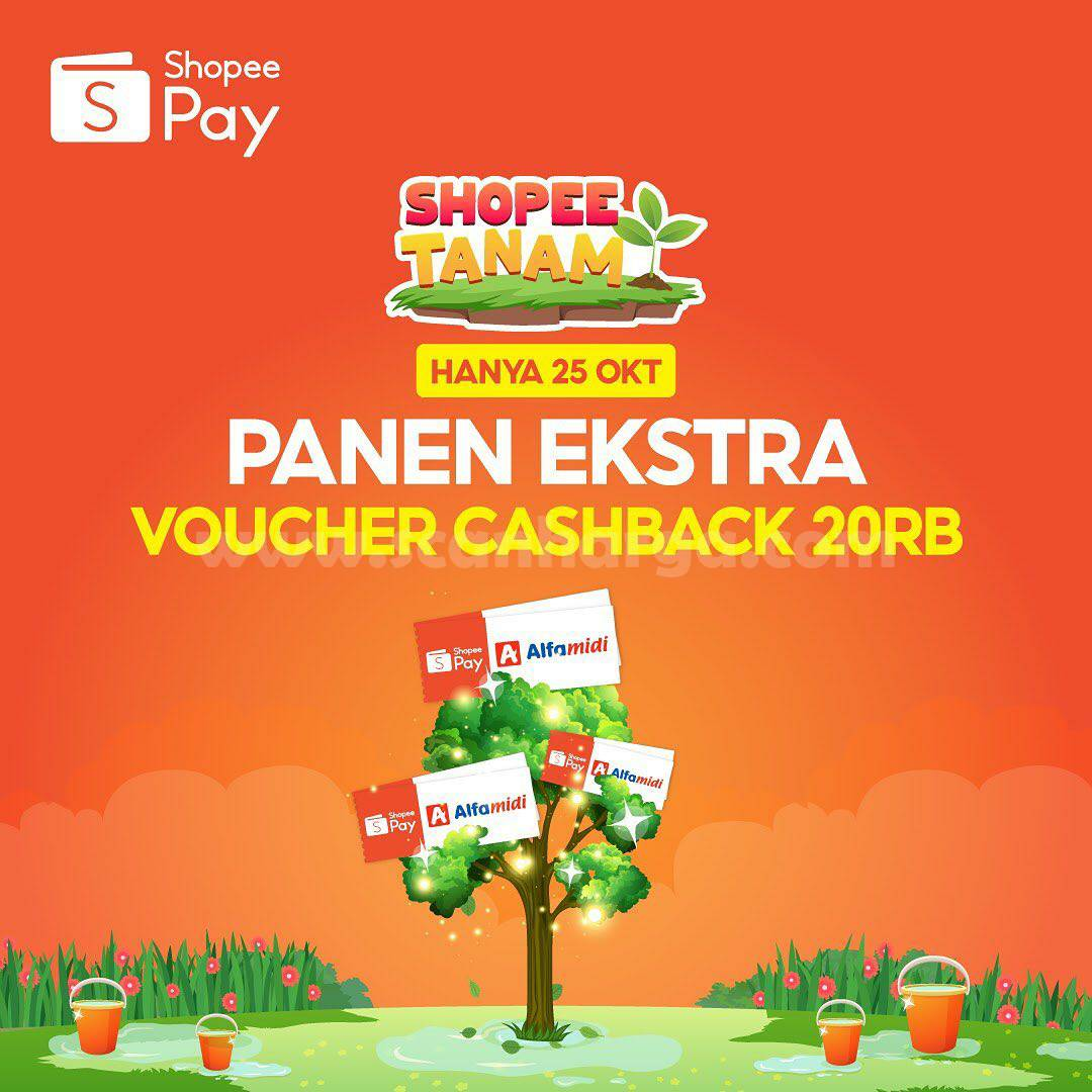 Alfamidi dan Alfamart Promo Shopeepay PANEN EKSTRA Voucher Cashback 20RB