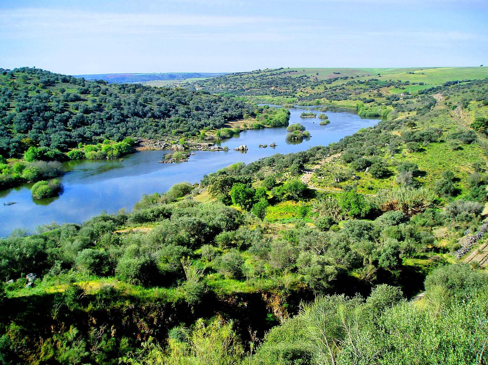 Rio Guadiana na Espanha