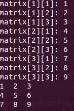 Array de arrays em C++