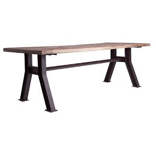 mesa rustica forja madera industrial grade
