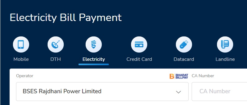 mobikwik bses bill payment