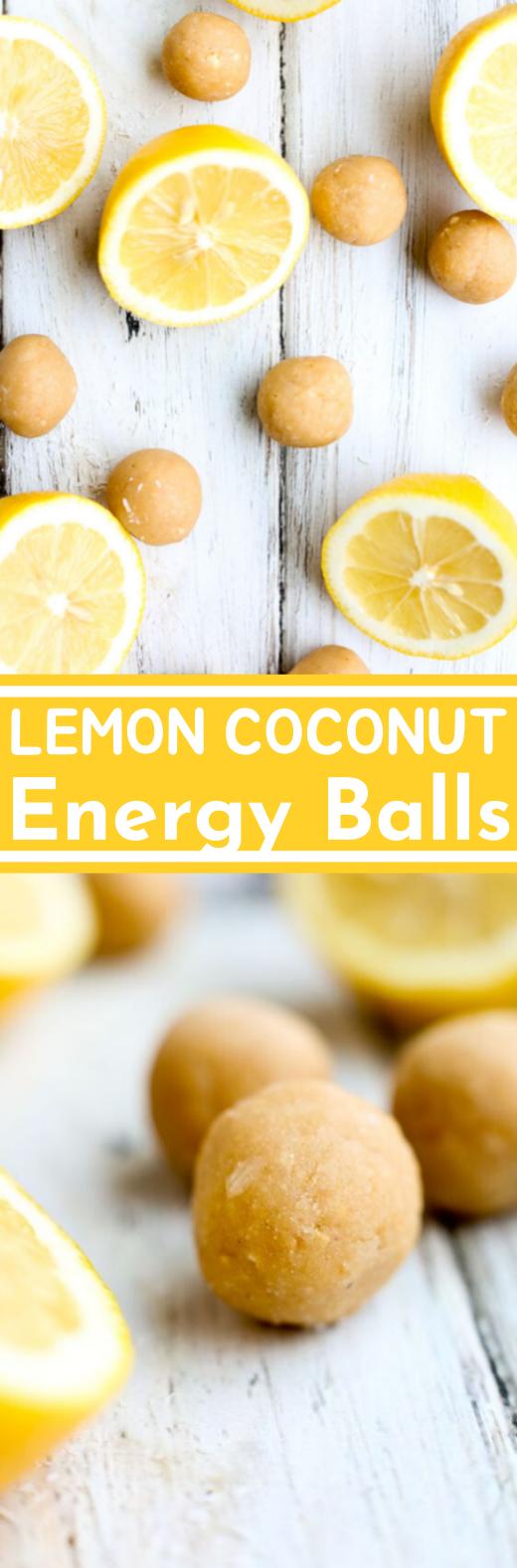 Lemon Coconut Energy Balls #healthy #recipe #snacks #breakfast #diet