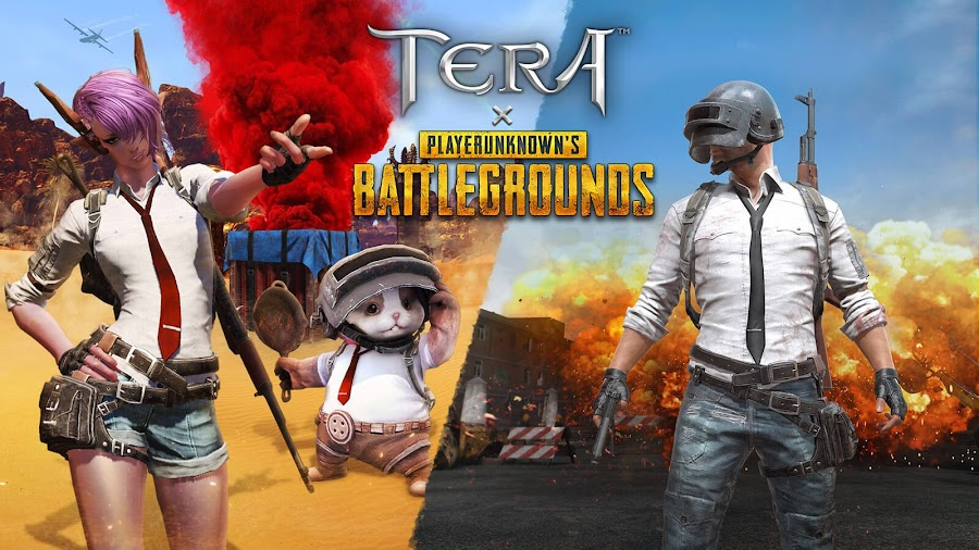 tera x pubg crossover event pc ps4 xbox one