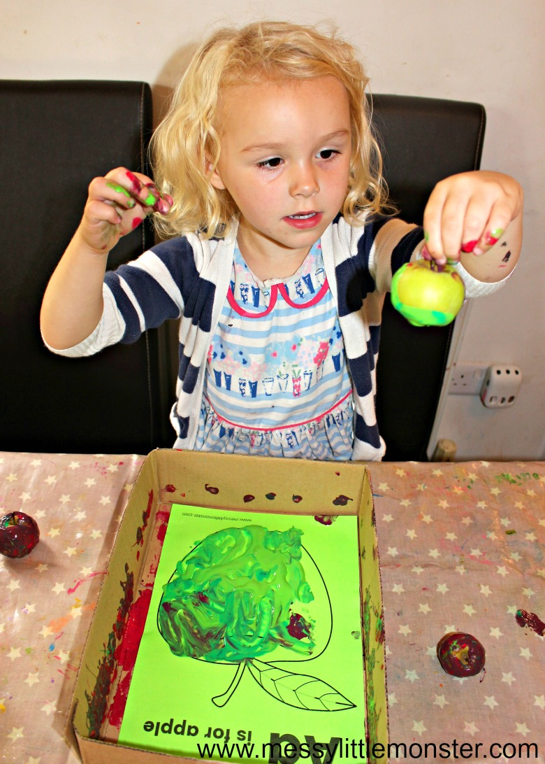 art activities for preschoolers - apple theme