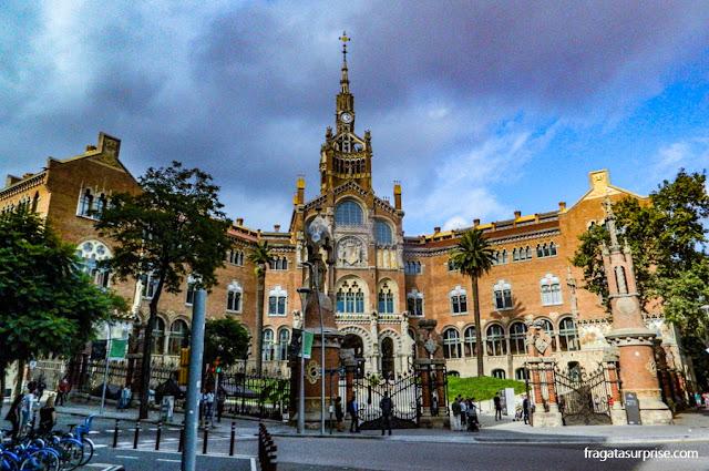 Hospital de la Santa Creu i Sant Pau, o Recinto Modernista, em Barcelona