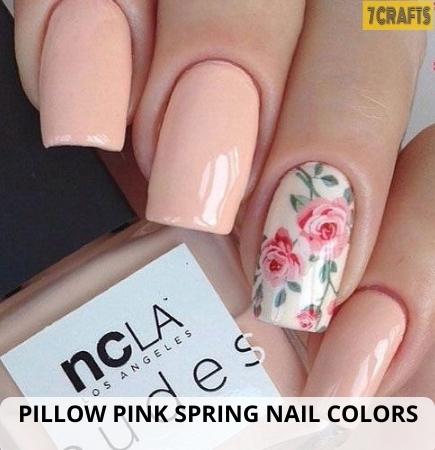 Pillow Pink Spring nail design