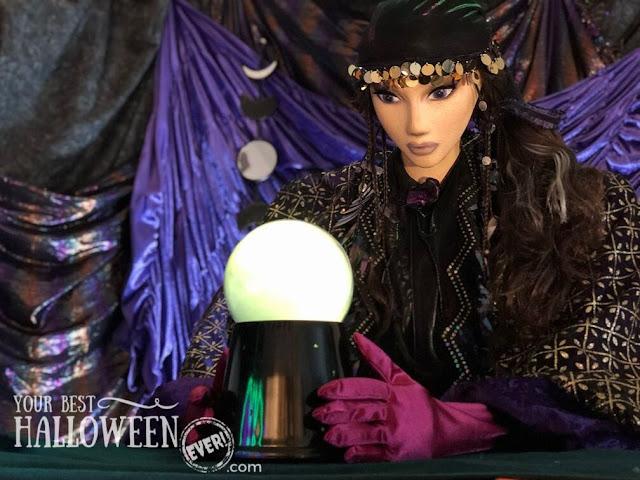 diy halloween character prop, mystical fortune teller, homemade halloween figure decoration