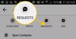 cara melihat permintaan pesan di messenger pada Android