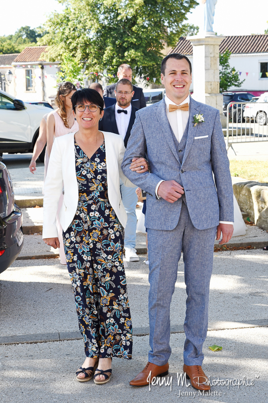 photo du marié et sa maman