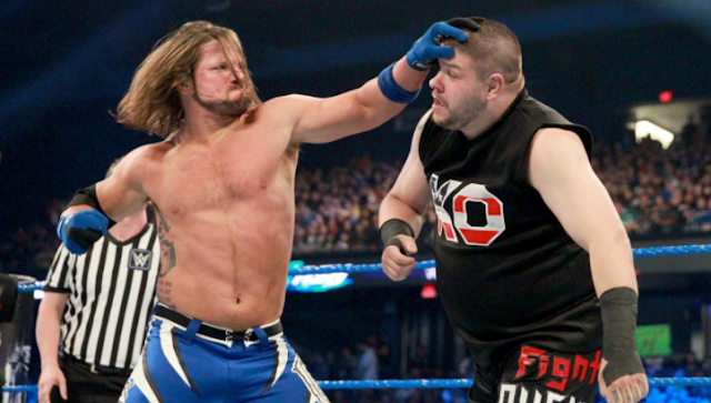 AJ Styles defeating Kevin Owens