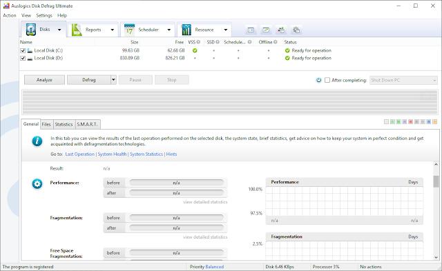 Screenshot Auslogics Disk Defrag Ultimate 4.11.0.1 Full Version