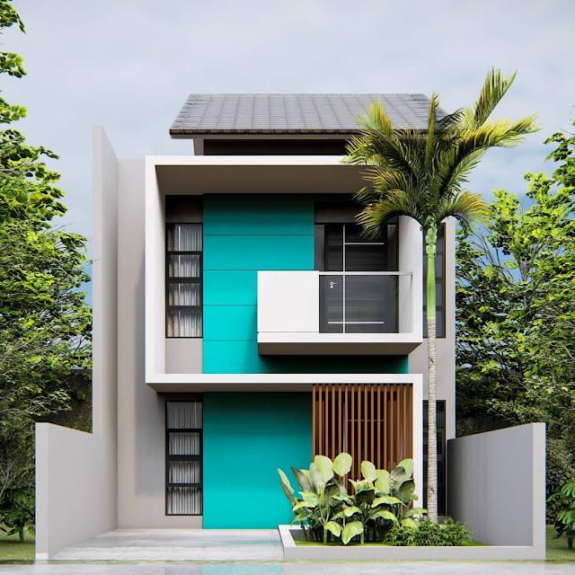 Rumah 2 Lantai Mungil Minimalis Modern