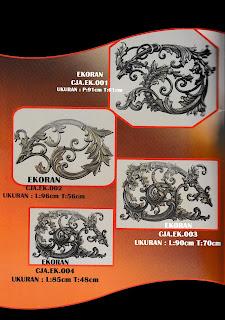 Katalog Ornamen Besi Tempa Model Kembang atau Ekoran.