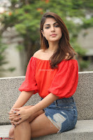 Rhea Chakraborty in Red Crop Top and Denim Shorts Spicy Pics ~  Exclusive 287.JPG