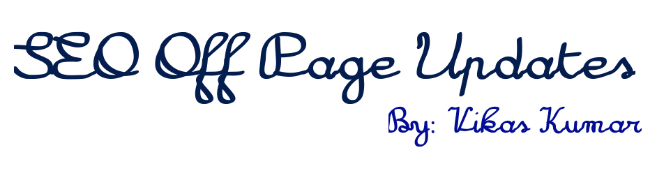 SEO Off Page Updates