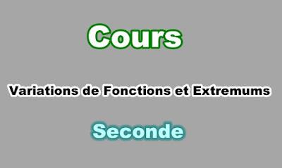 Cours de Variations de Fonctions et Extremums en Seconde PDF