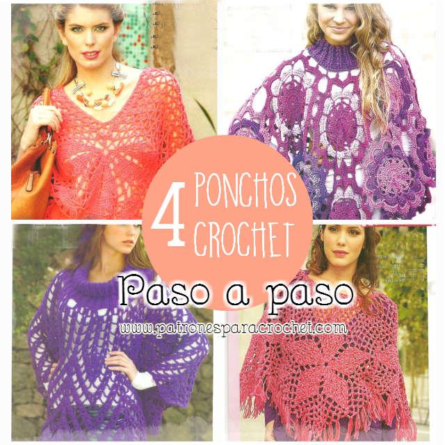 Contemporáneo Patrón Cape Crochet Más El Tamaño Fotos - Ideas de ...